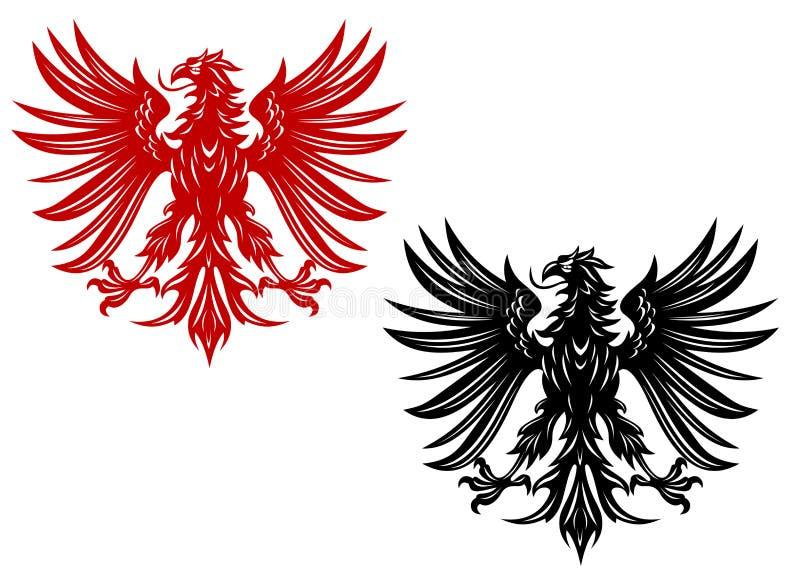 De adelaars van de wapenkunde royalty-vrije illustratie