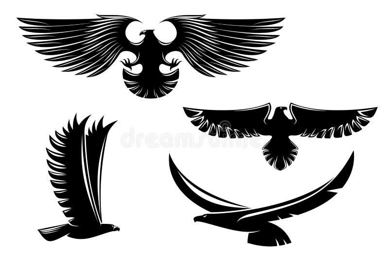De adelaarssymbolen van de wapenkunde vector illustratie