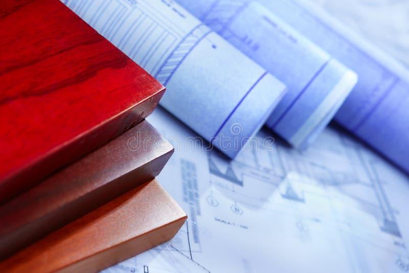 De administratie van de architectuur en houten raad royalty-vrije stock fotografie