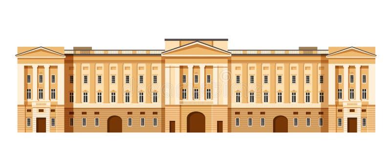 De administratieve bouw van Buckingham Palace De woonplaats van Londen van monarchen royalty-vrije illustratie