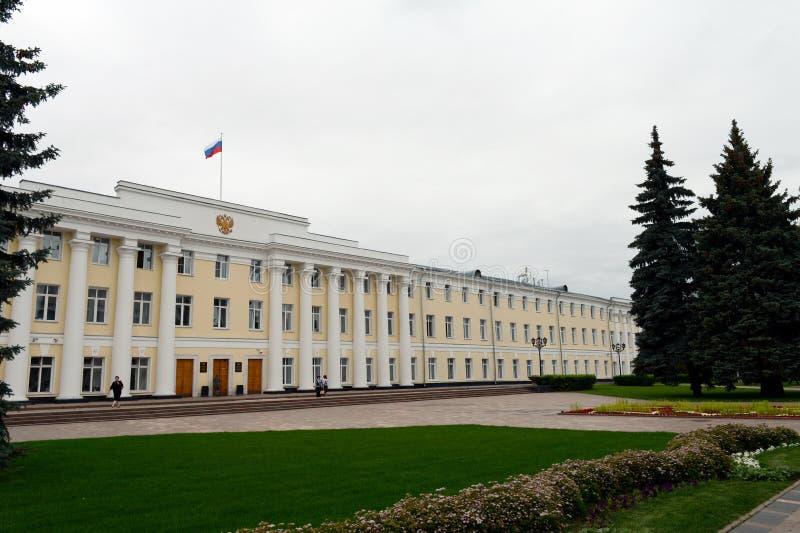De administratieve Bouw van de Wetgevende vergadering in Nizhny Novgorod het Kremlin stock foto