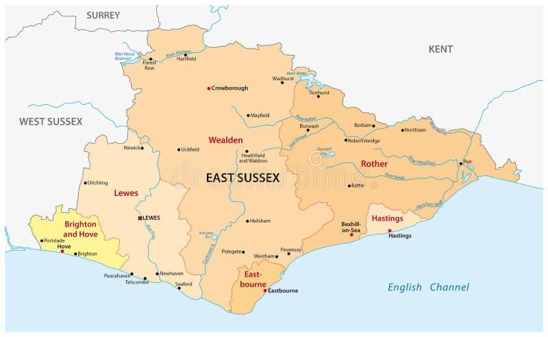 De Kaart Van De Essexprovincie Stock Illustratie Illustratie