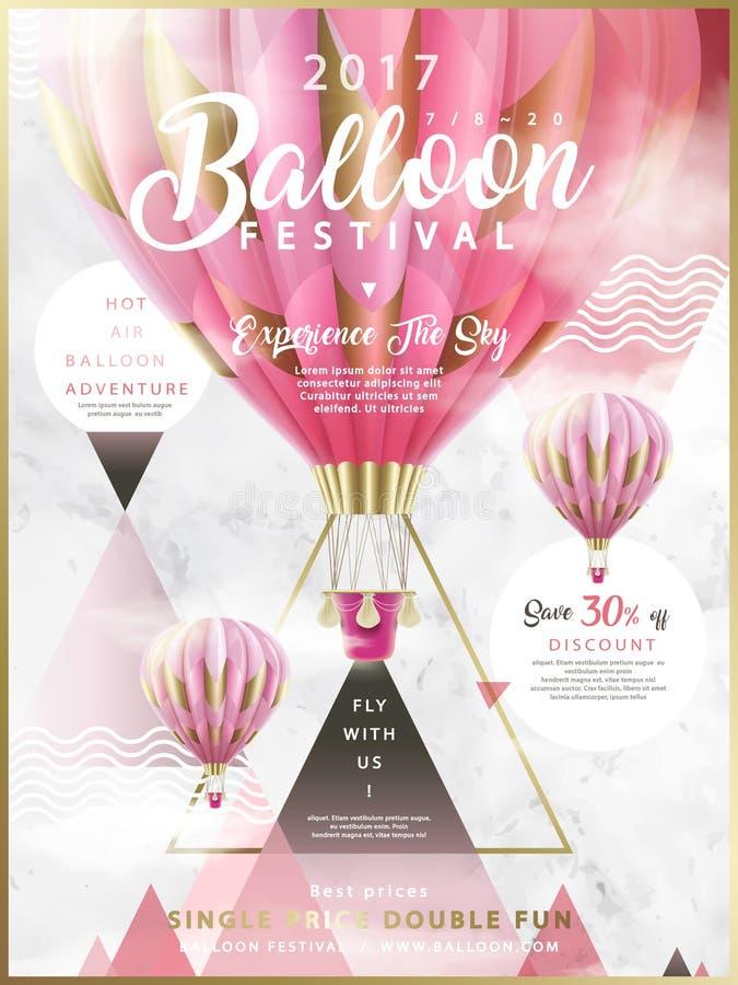 De advertenties van het ballonfestival stock illustratie