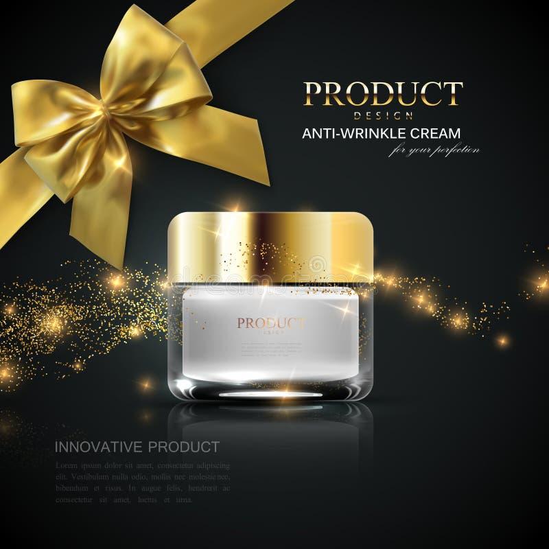 De advertenties van het schoonheidsmiddelenproduct royalty-vrije illustratie