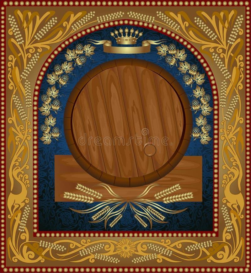 De adverterende banner van het wijnbier stock illustratie