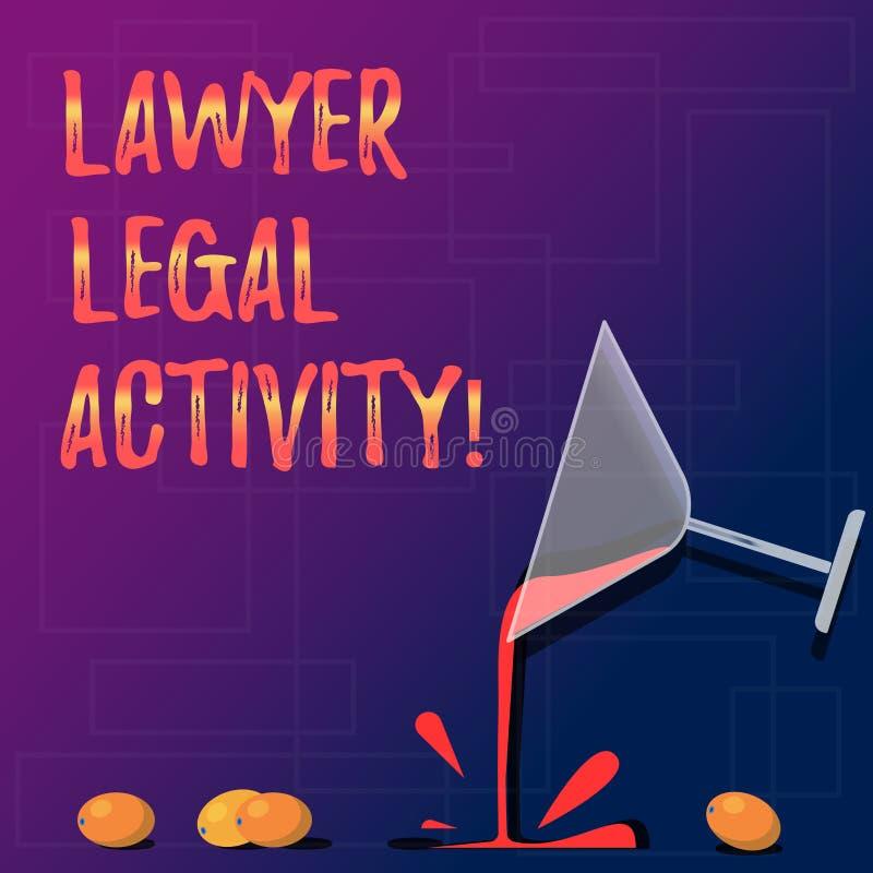 De Advocaat Legal Activity van de handschrifttekst De conceptenbetekenis bereidt gevallen voor en geeft advies op wettelijke onde stock illustratie