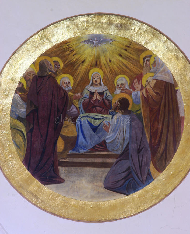 Download De Afdaling Van De Heilige Geest Stock Afbeelding - Afbeelding bestaande uit goud, heilige: 29500189