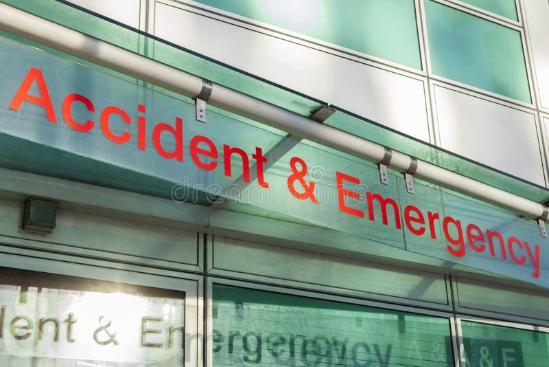 De Afdeling van de ongevallennoodsituatie stock foto