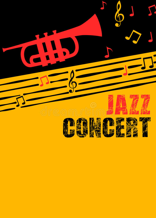 De affiche en de vlieger van de jazzmuziek stock illustratie