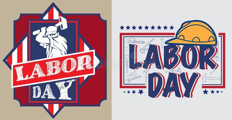 De affiche van de de Arbeidsdag van Amerika stock afbeelding