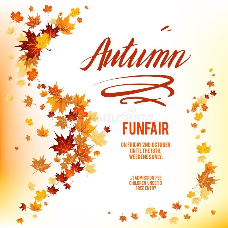 De affiche van Autumnlbladeren stock illustratie