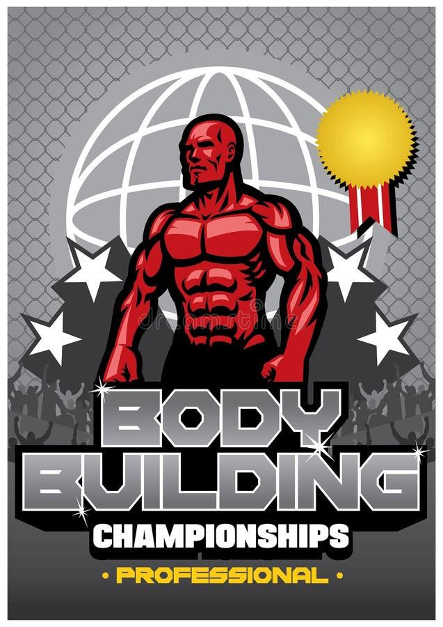 De affiche van de Bodybuildingswedstrijd royalty-vrije illustratie