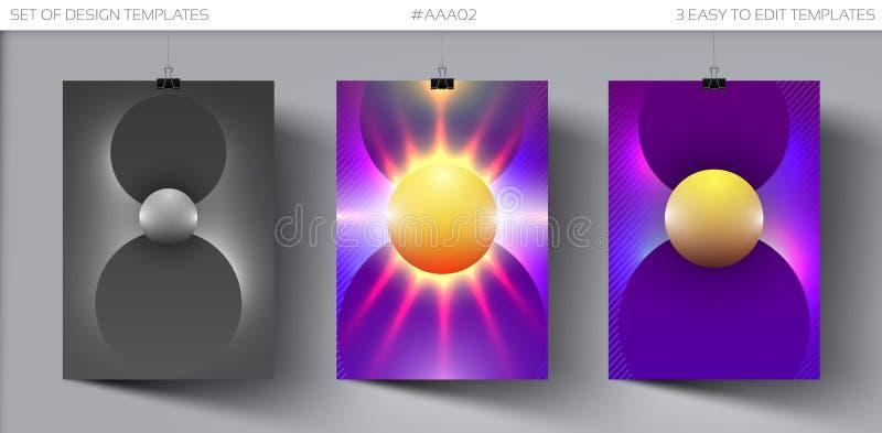 De affiche van de danspartij Reeks van Ontwerpsjabloon voor de Vlieger van de Muziekpartij, Dekking, Brochurelay-out stock illustratie