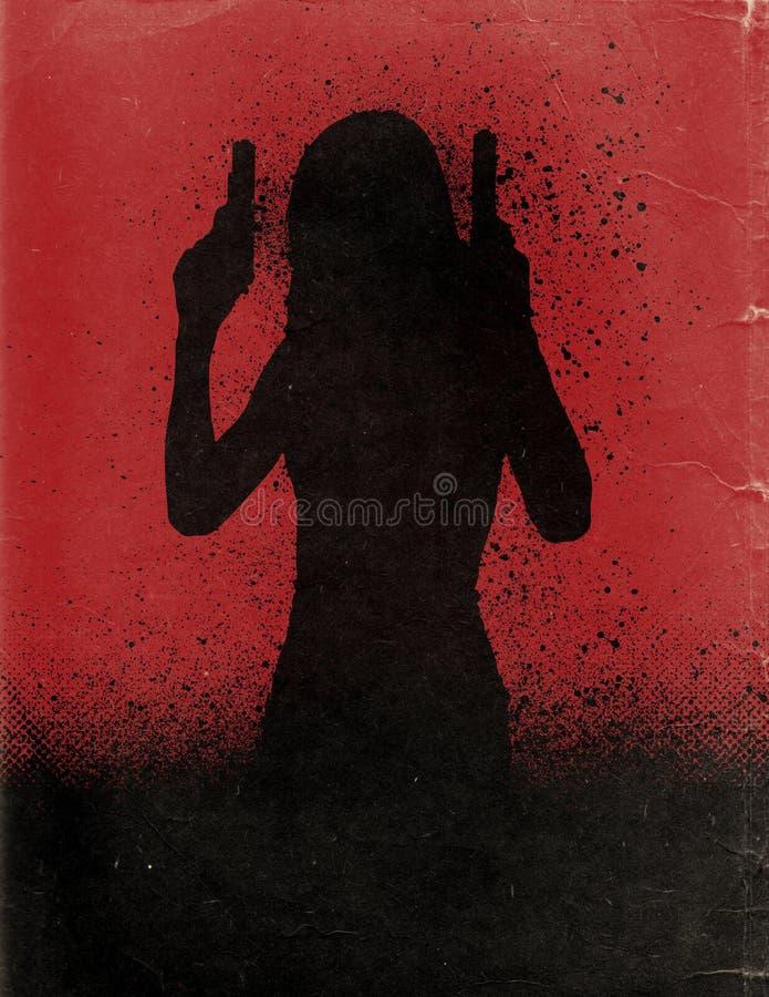 De Affiche van de actiefilm stock illustratie