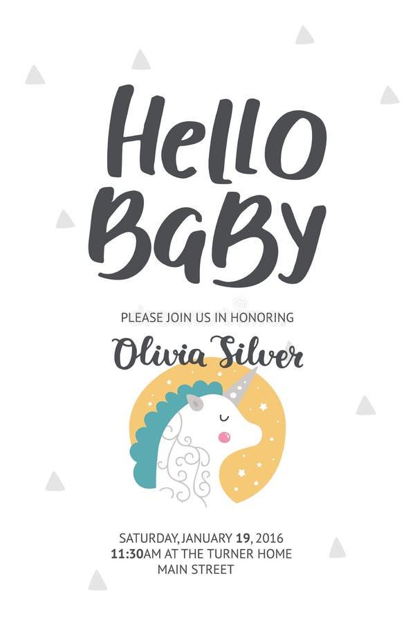 De Affiche van de babydouche vector illustratie