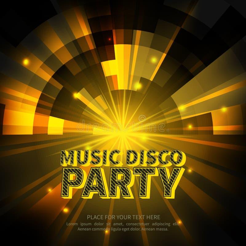 De affiche van de discopartij royalty-vrije illustratie