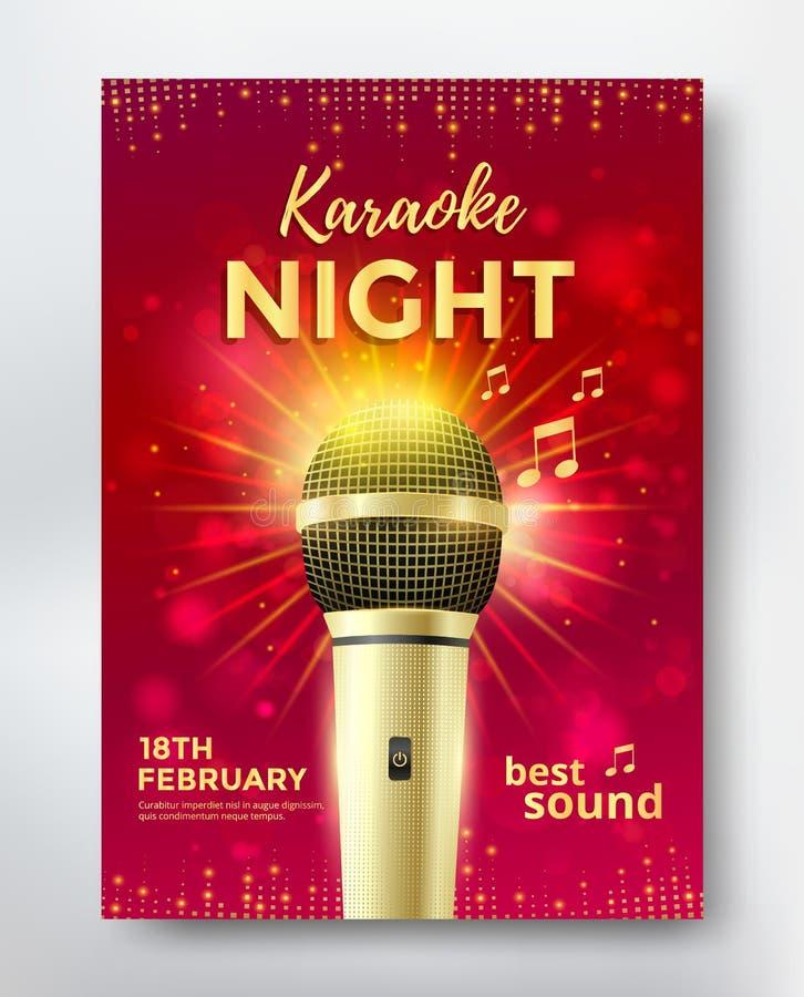 De affiche van de karaokepartij royalty-vrije illustratie