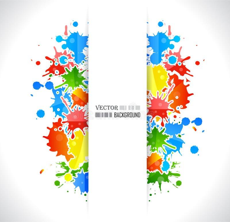 De affiche van de kleur grunge stock illustratie