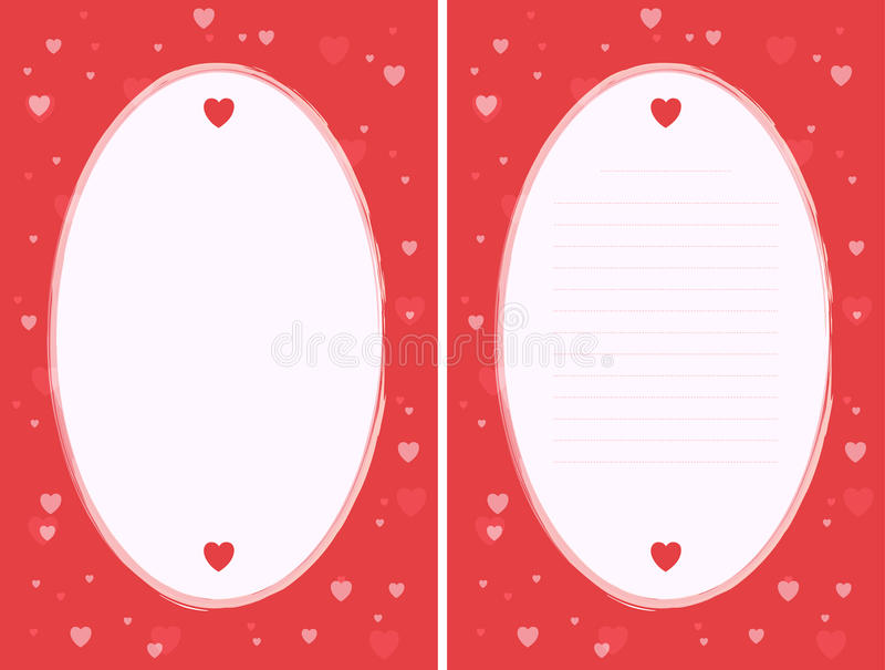 De Affiche van de liefde stock illustratie