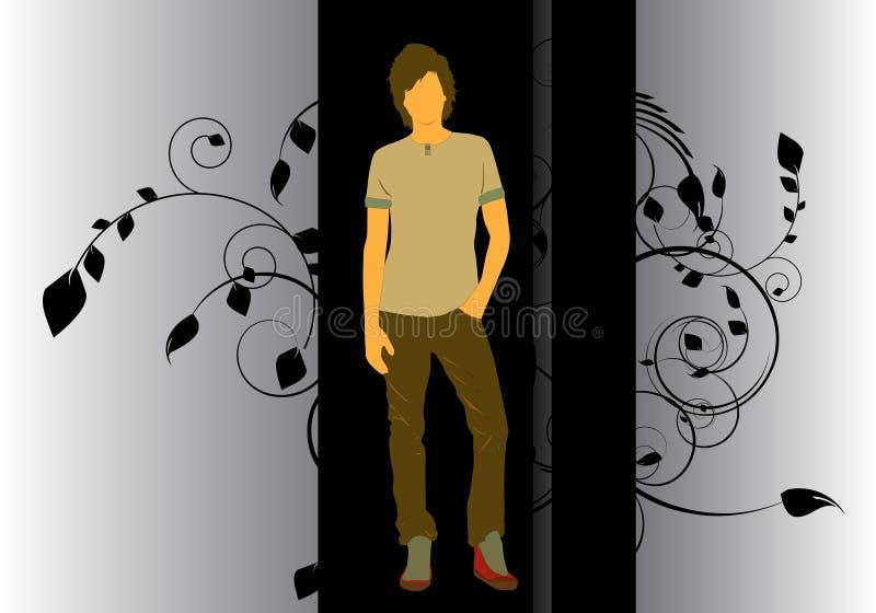 De affiche van de mens vector illustratie