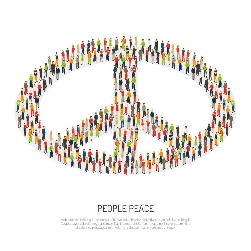 De Affiche van de mensenvrede vector illustratie
