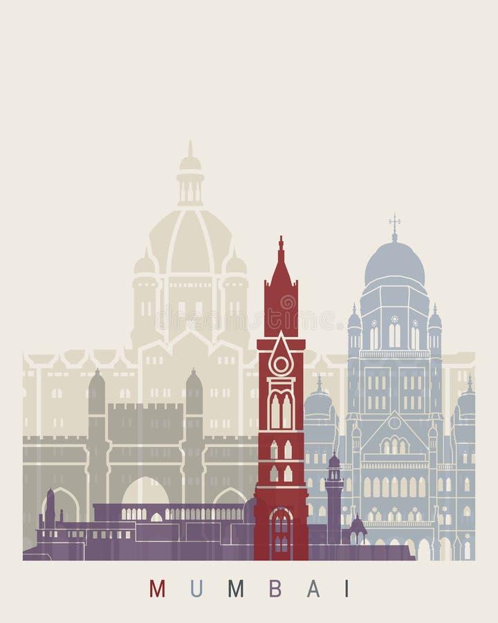 De affiche van de Mumbaihorizon vector illustratie