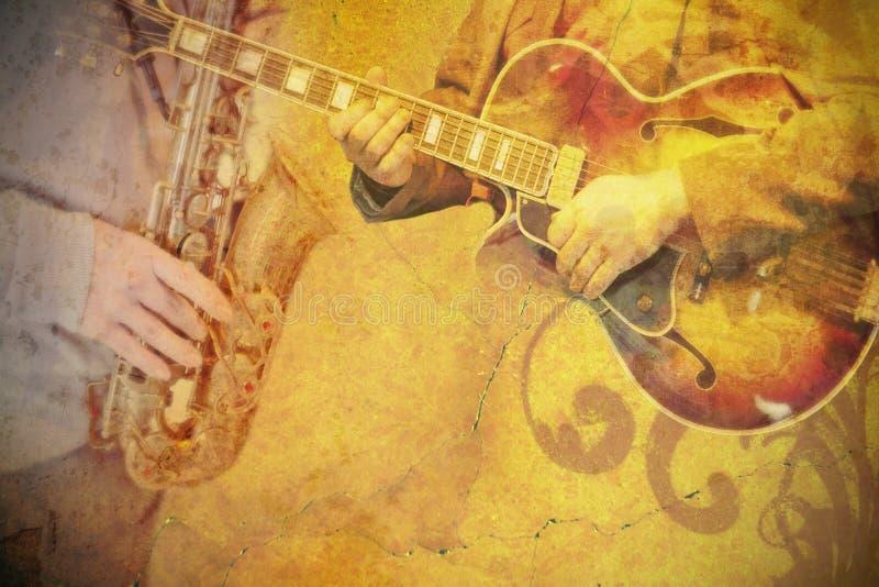 De affiche van de muziek stock foto