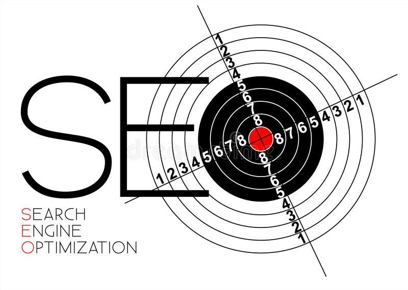 De affiche van de Optimalisering van de Motor van het onderzoek vector illustratie