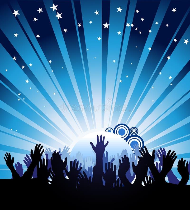 De Affiche van de partij stock illustratie
