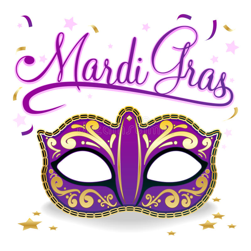 De Affiche van Gras van Mardi royalty-vrije illustratie
