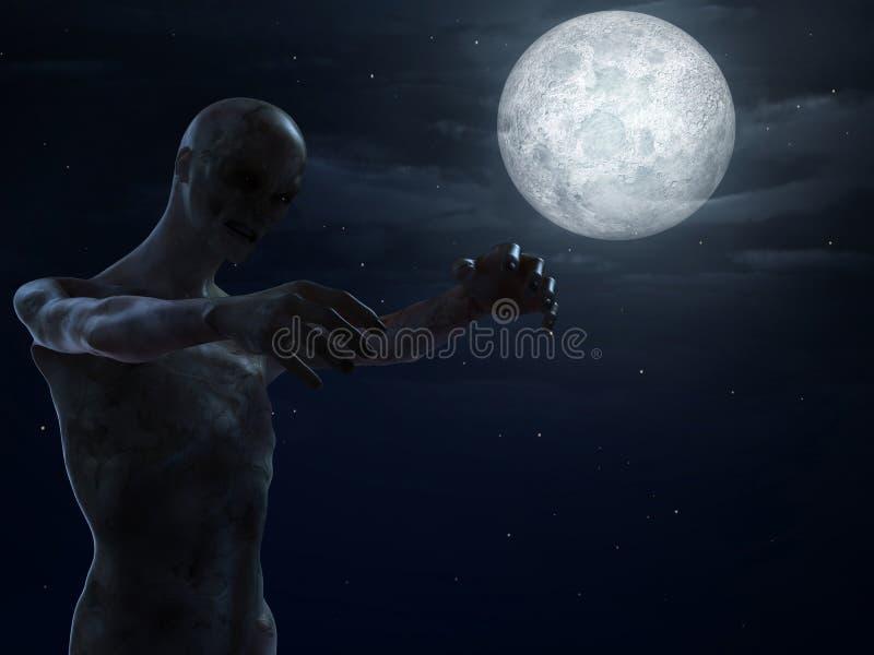De affiche van Halloween royalty-vrije illustratie