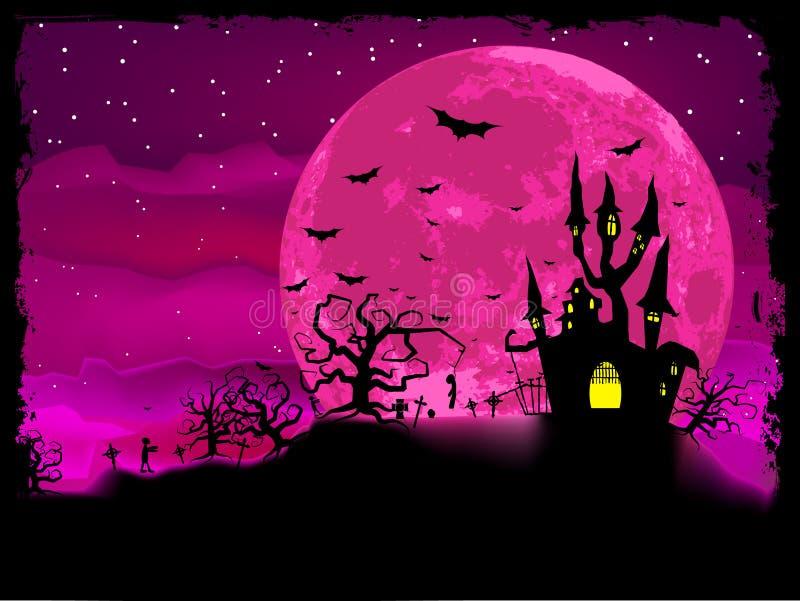 De affiche van Halloween met zombieachtergrond. EPS 8 vector illustratie