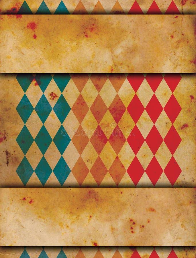 De affiche van het Grungecircus royalty-vrije illustratie