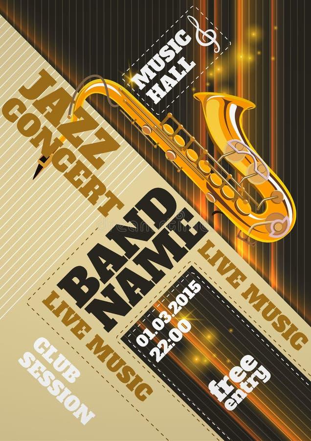 De affiche van het jazzoverleg royalty-vrije illustratie