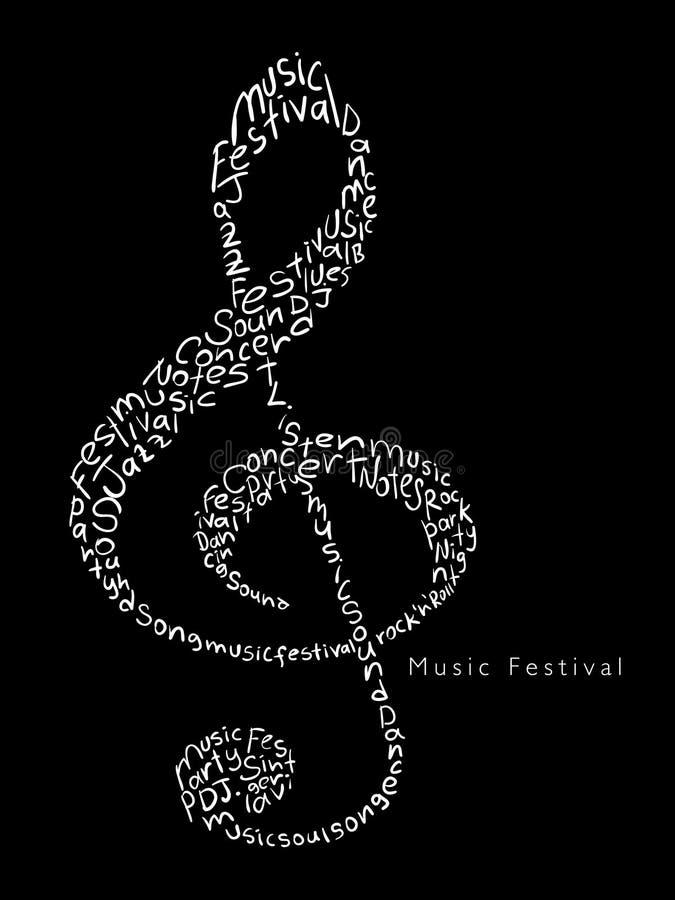 De affiche van het muziekfestival vector illustratie