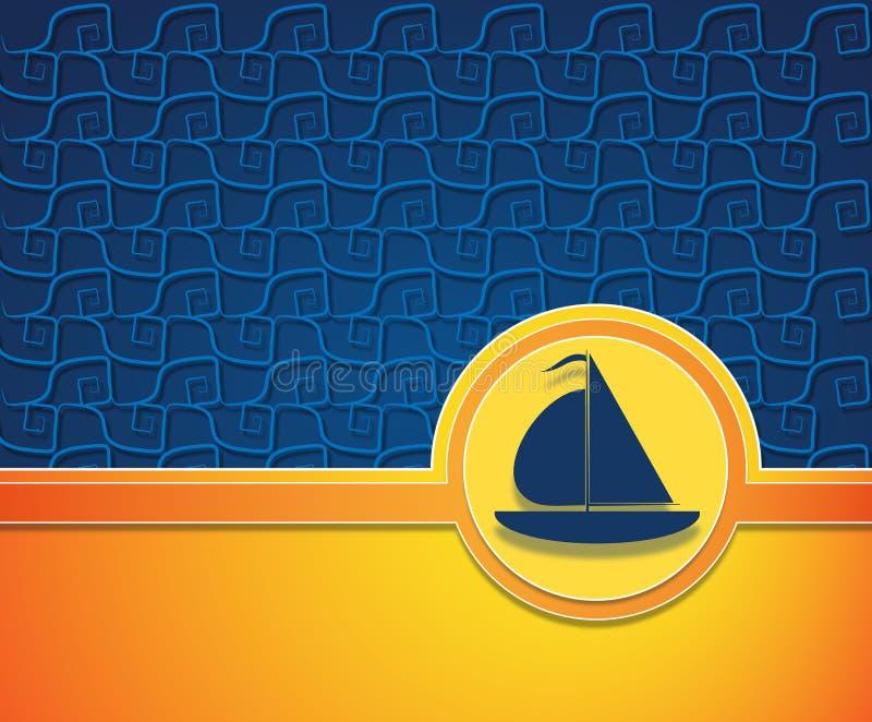 De affiche van het roeien vector illustratie