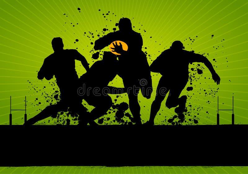 De Affiche van het rugby grunge royalty-vrije illustratie