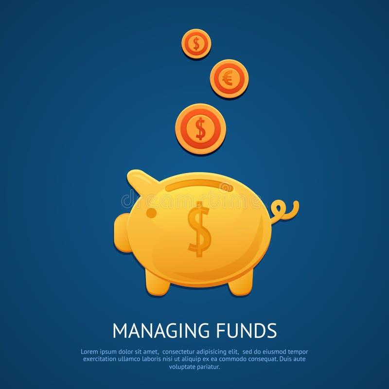 De affiche van het spaarvarken stock illustratie