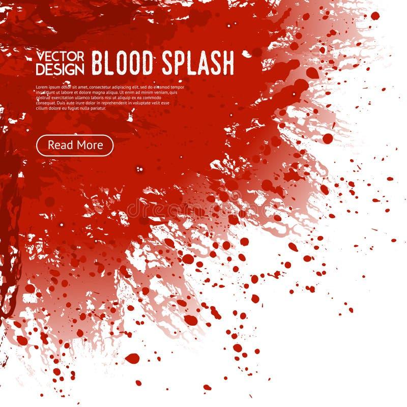 De Affiche van het van de achtergrond bloedplons Webpaginaontwerp royalty-vrije illustratie