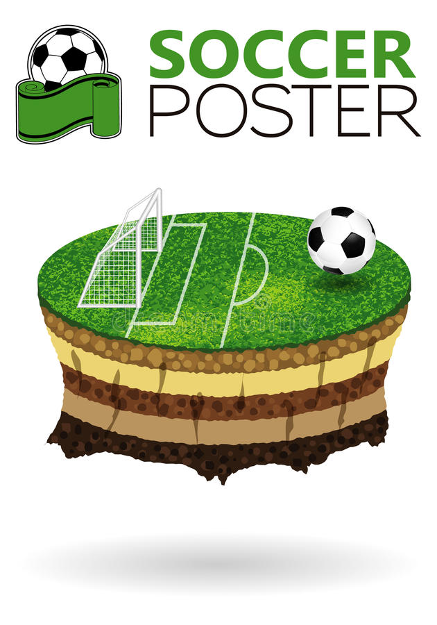 De Affiche van het voetbal vector illustratie