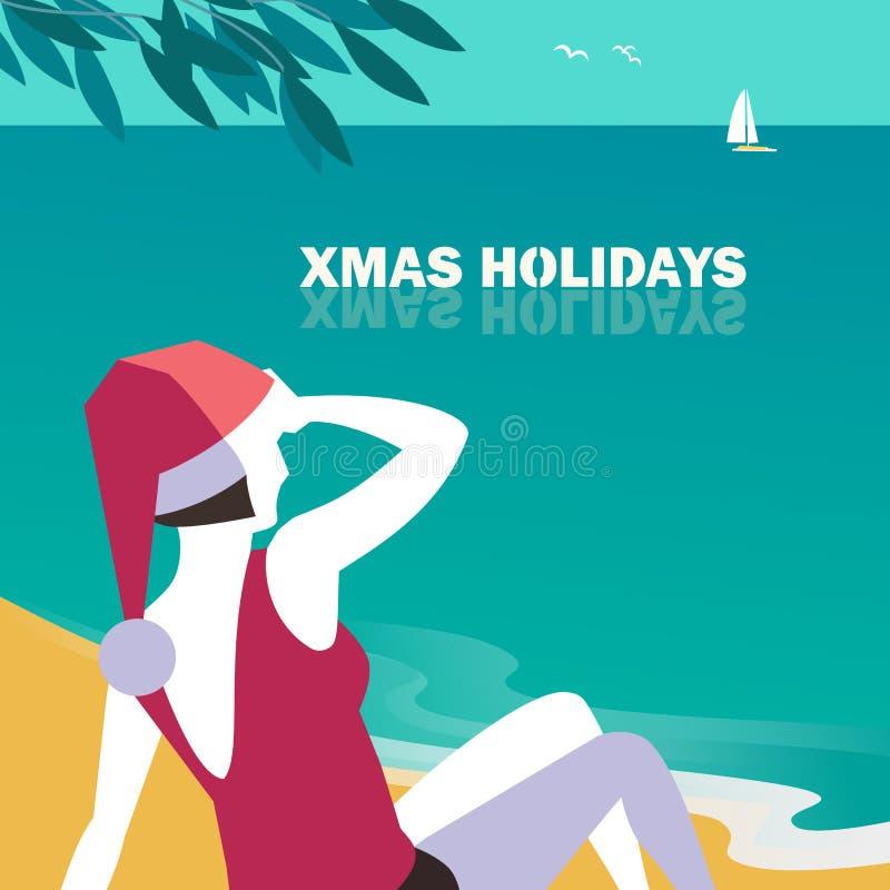 De affiche van de Kerstmisvakantie vector illustratie