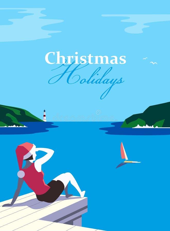 De affiche van de Kerstmisvakantie stock illustratie
