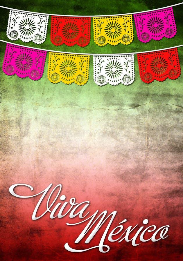 De affiche van Mexico van Viiva - het malplaatje van de Kaart stock foto