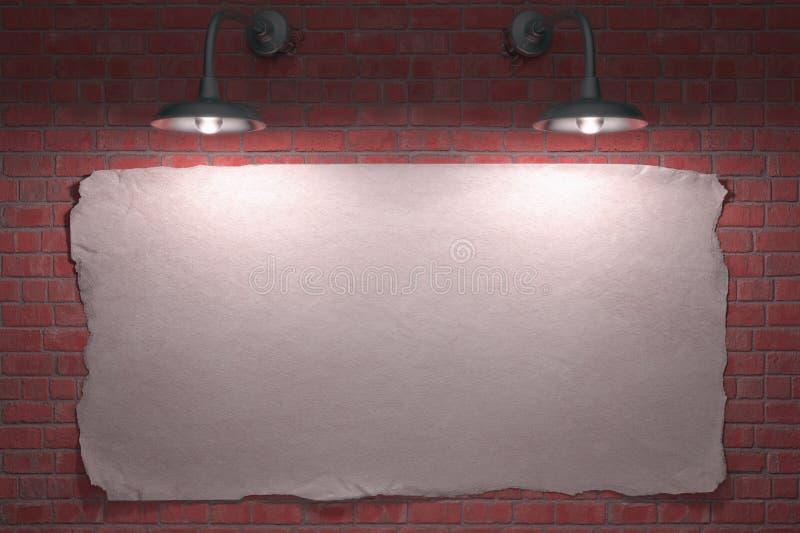De Affiche Van Twee Lamp Stock Afbeelding