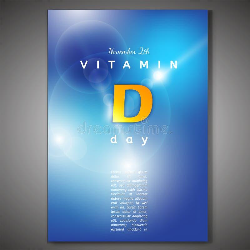 De affiche van vitamined stock illustratie
