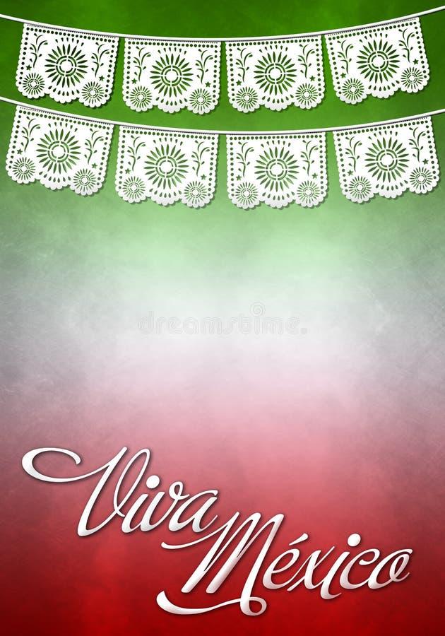 De affiche van Vivamexico - Mexicaanse document decoratie stock illustratie