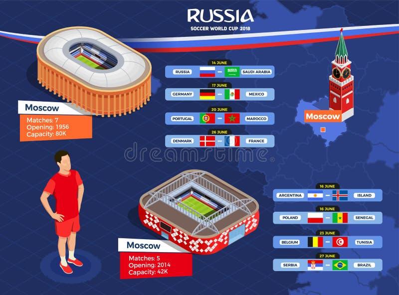 De Affiche van de voetbalwereldbeker royalty-vrije illustratie