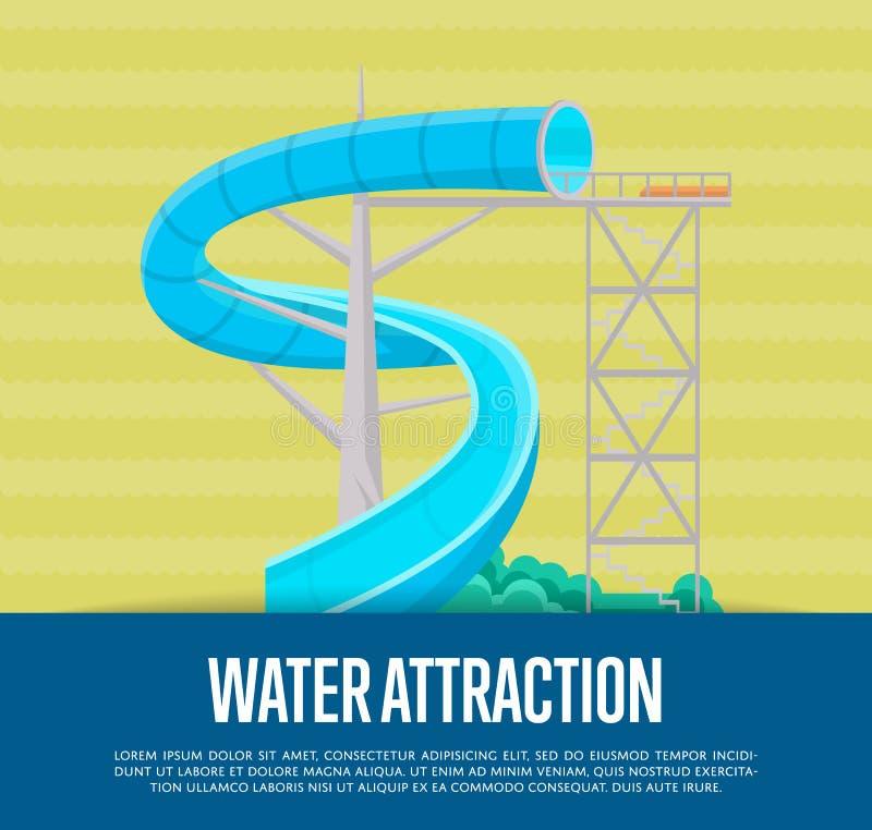 De affiche van de wateraantrekkelijkheid met waterdia royalty-vrije illustratie