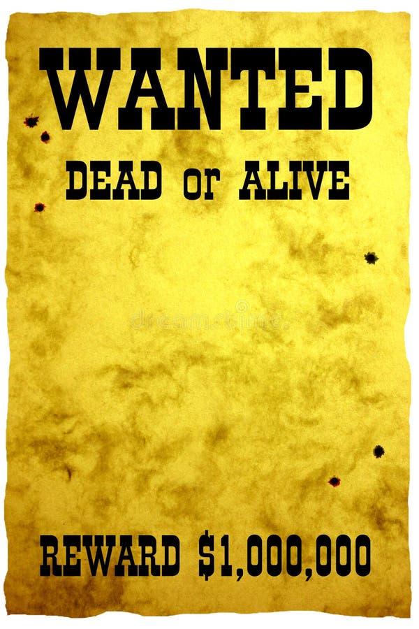 De affiche van Wilde Westennen stock afbeelding