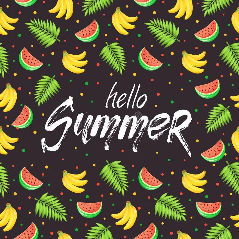 De affiche van de de zomertijd vector illustratie